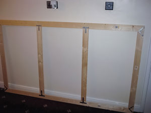 Building A Fixed Frame Screen Psm Screens Projector